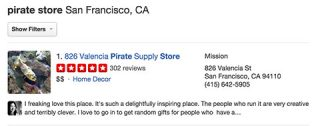 pirate store yelp