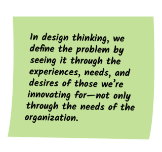 Design Thinking Post It Note